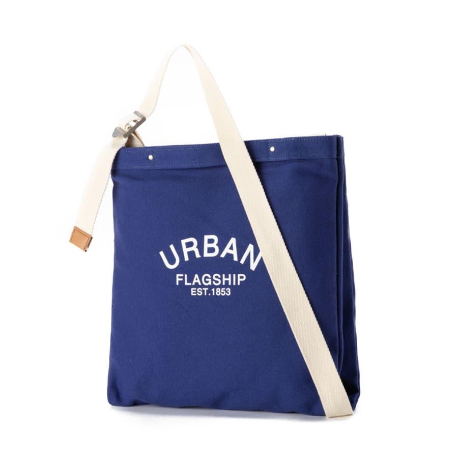 ショルダーバッグ キャンバス レディース 斜めがけ 肩掛け 手持ち かばん 鞄 シンプル 異素材 マザーズバッグ おしゃれ シンプルカジュアル キレイめ ロゴ プリント エコバッグ ショルダーバッグ [アーバン] ALTROSE アルトローズ 63