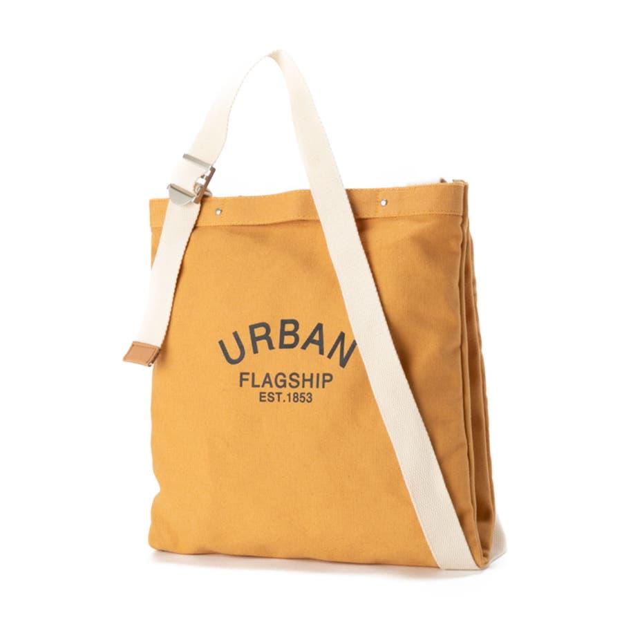 ショルダーバッグ キャンバス レディース 斜めがけ 肩掛け 手持ち かばん 鞄 シンプル 異素材 マザーズバッグ おしゃれ シンプルカジュアル キレイめ ロゴ プリント エコバッグ ショルダーバッグ [アーバン] ALTROSE アルトローズ 85