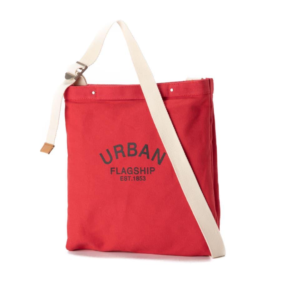 ショルダーバッグ キャンバス レディース 斜めがけ 肩掛け 手持ち かばん 鞄 シンプル 異素材 マザーズバッグ おしゃれ シンプルカジュアル キレイめ ロゴ プリント エコバッグ ショルダーバッグ [アーバン] ALTROSE アルトローズ 94