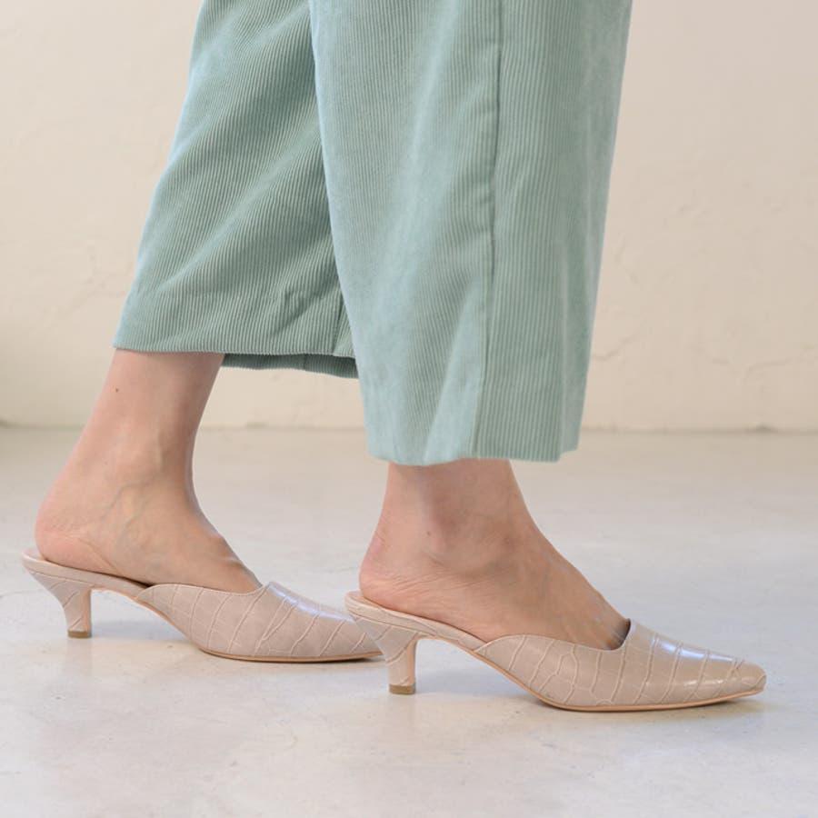 人気 スクエアカット ミュール サンダル 6センチ ヒール レディース 春 夏 黒 靴 シンプル ポインテッド大きいサイズ美脚チュールピンヒール 楽 歩きやすい 痛くない サンダル CX1123 18
