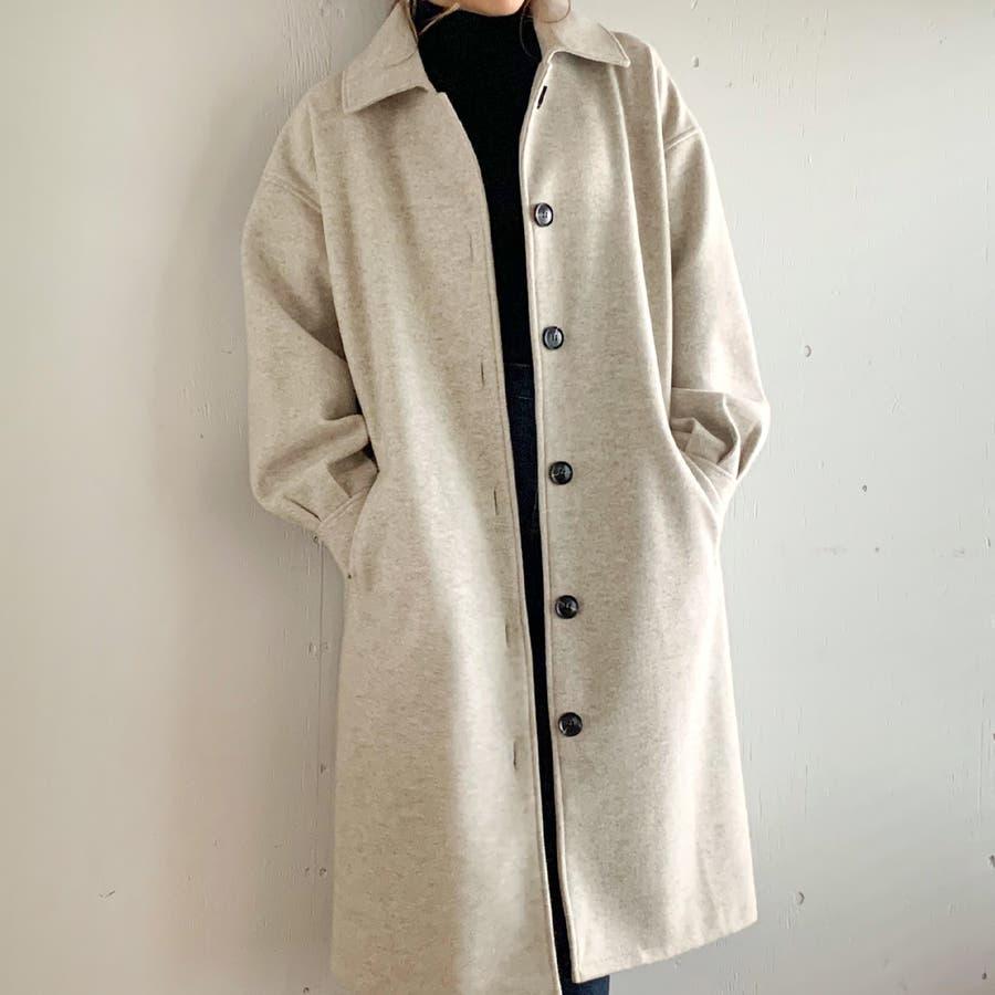 袖タックロングコート/カジュアル フェミニン 大人 アウター 韓国 韓国ファッション 人気  2