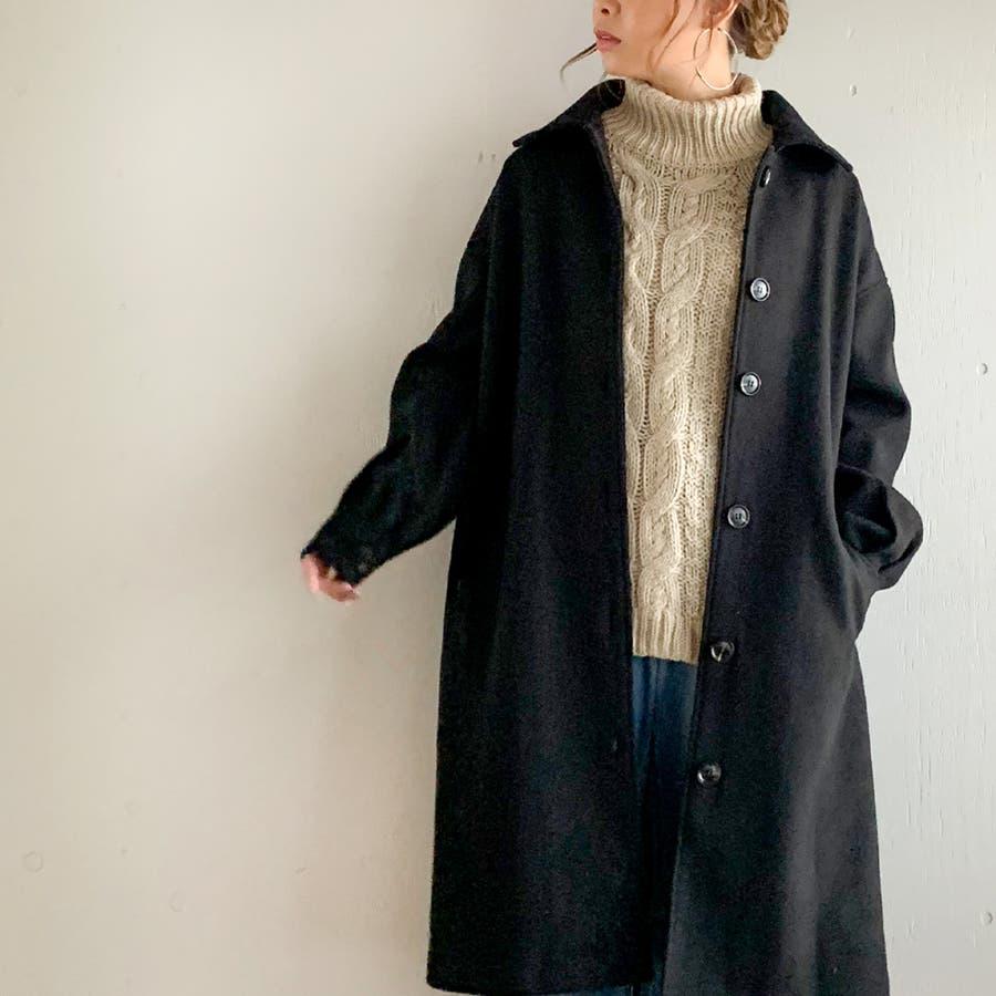 袖タックロングコート/カジュアル フェミニン 大人 アウター 韓国 韓国ファッション 人気  21