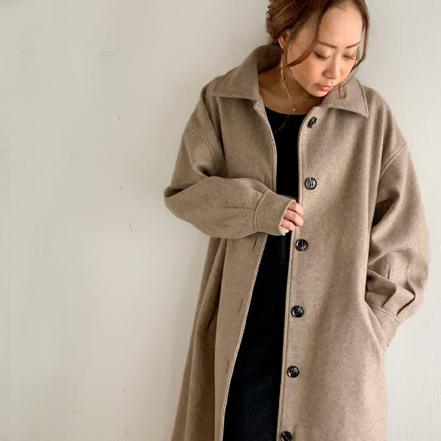 袖タックロングコート/カジュアル フェミニン 大人 アウター 韓国 韓国ファッション 人気  41