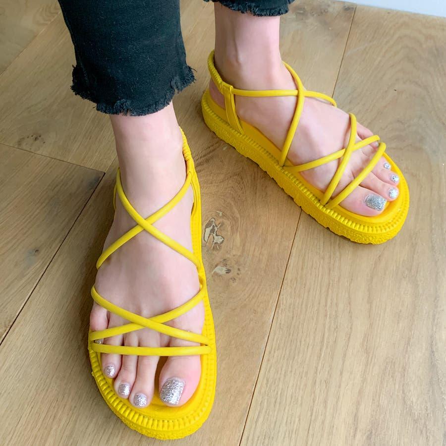 レースアップサンダル/靴 無地 シンプル 春 夏 カジュアル ストリート フェミニン 大人 韓国 韓国ファッション 人気  83