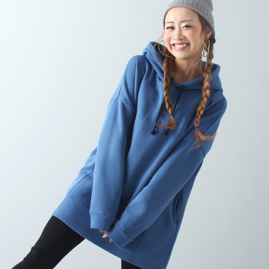 裏起毛ビッグパーカー/軽い/トップス/プルオーバー/春夏秋冬 7