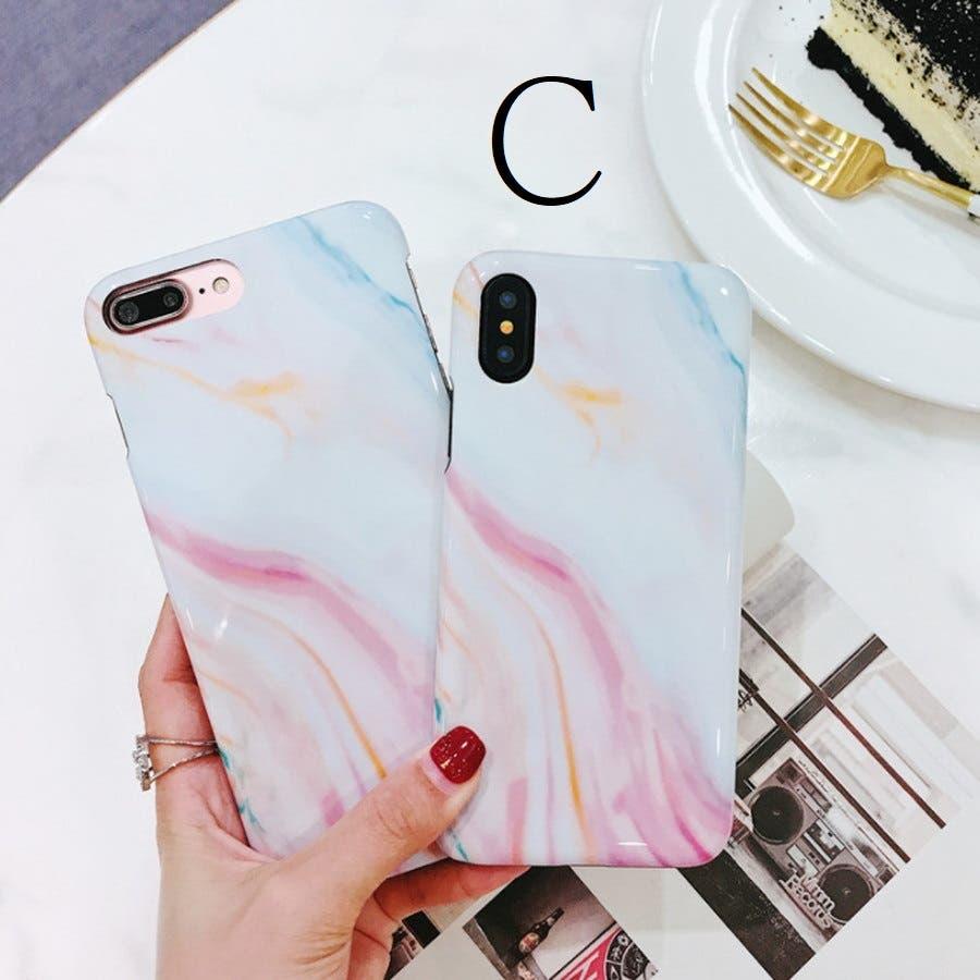 スマホケース 大理石風 マーブルデザイン iphoneケース 7