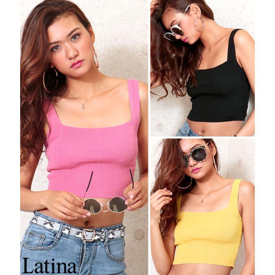 リブクロップドスクエアトップス / anap Latina / 403-7536 1