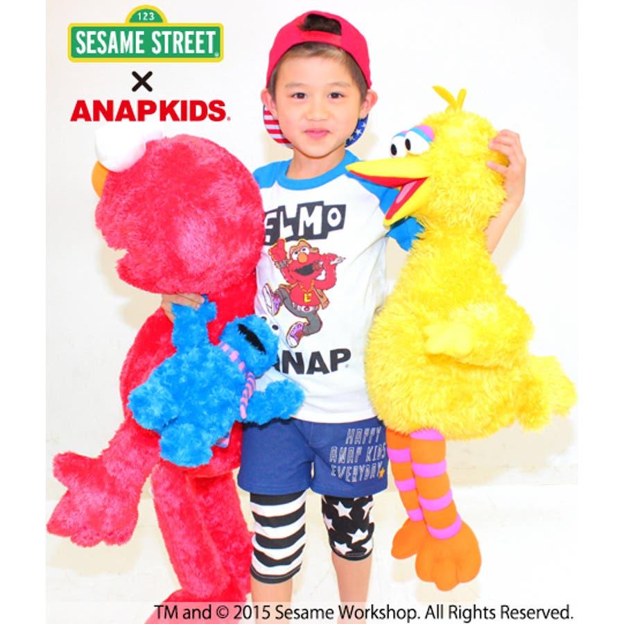 すごくおすすめ!! ANAP セサミストリートコラボラグランTシャツ Tシャツ   キッズ  ジュニア  女の子  男の子  トップス 番外