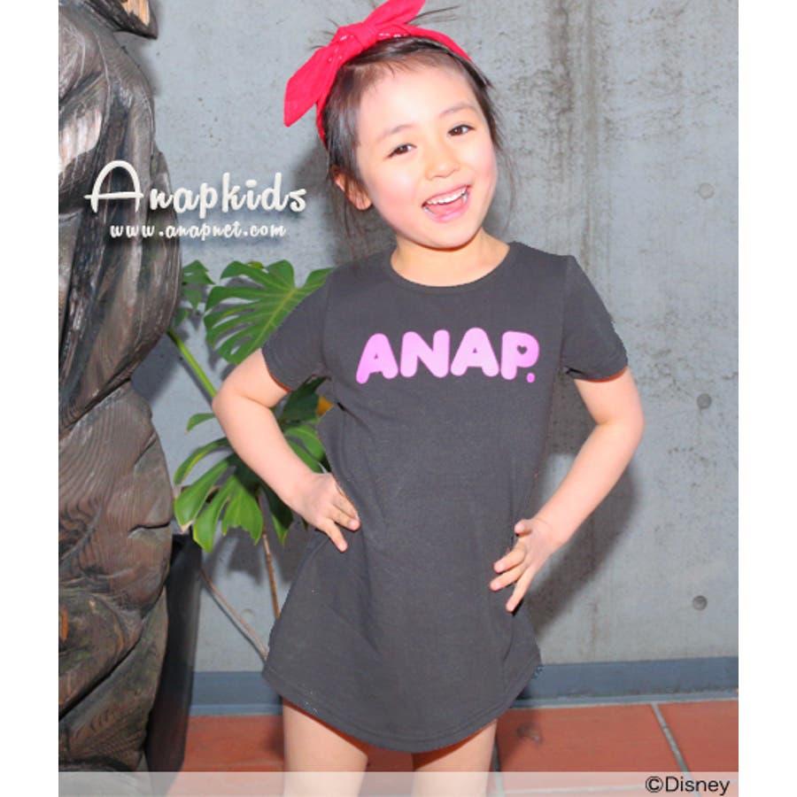 すごーい!! ANAP ディズニーコレクション・バックリボンワンピース チュニック   キッズ  ジュニア  女の子   ワンピース 晩夏
