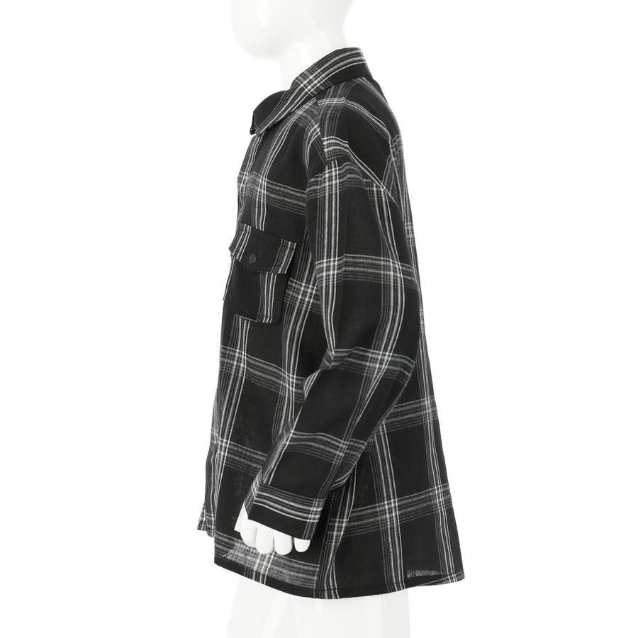 チェックシャツ 男の子 女の子 子供服 キッズ ANAP KIDS アナップキッズ トップス シャツ/ブラウス 秋冬 黒 白S/M/L 8
