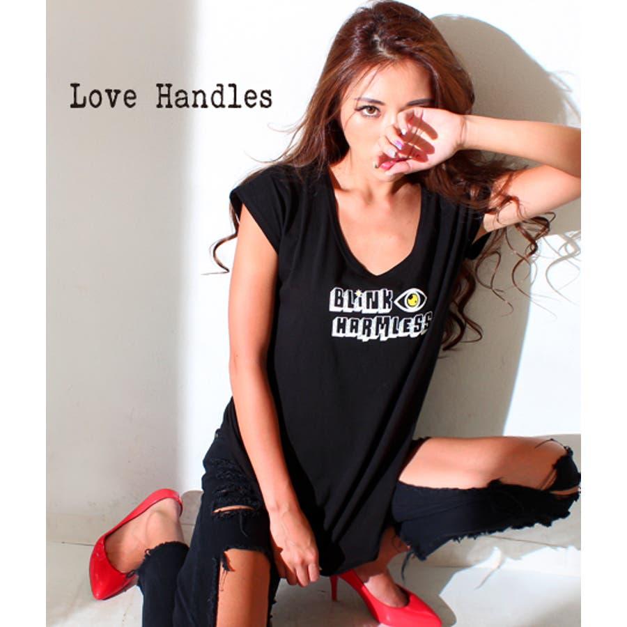着回したい優秀アイテム ANAP 「BLiNK HARMLESS」プリントチュニックTシャツ Tシャツ 卒然