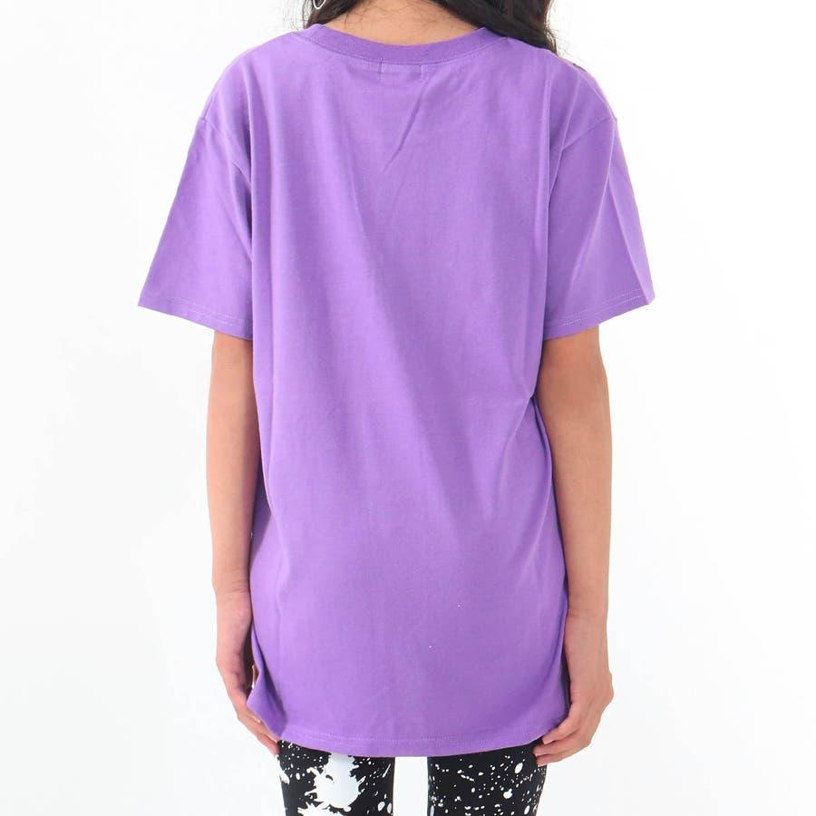 フラップポケット付チュニック 女の子 ガール ANAP GiRL アナップガール トップス Tシャツ 秋冬 紫 黒 白 S/M 4