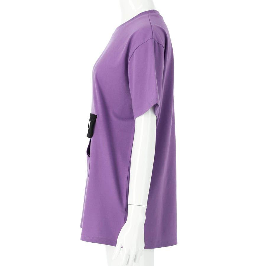 フラップポケット付チュニック 女の子 ガール ANAP GiRL アナップガール トップス Tシャツ 秋冬 紫 黒 白 S/M 6