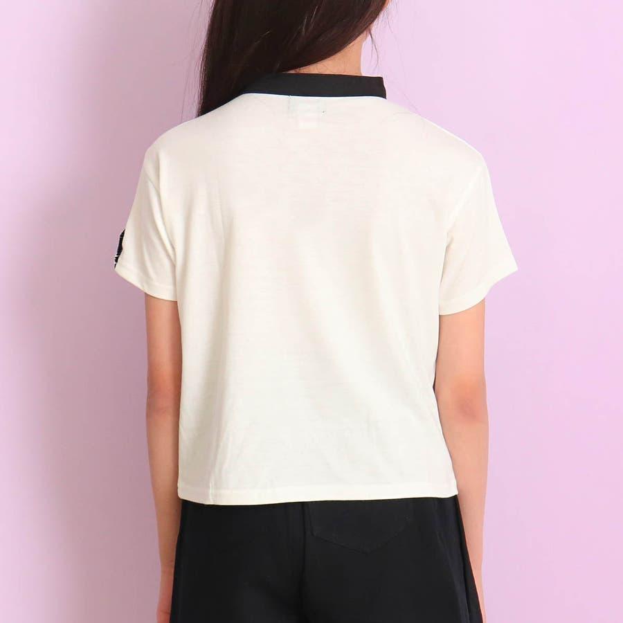 チョーカー見えトップス 女の子 ガール ANAP GiRL アナップガール トップス Tシャツ 秋冬 黒 白 S/M 8