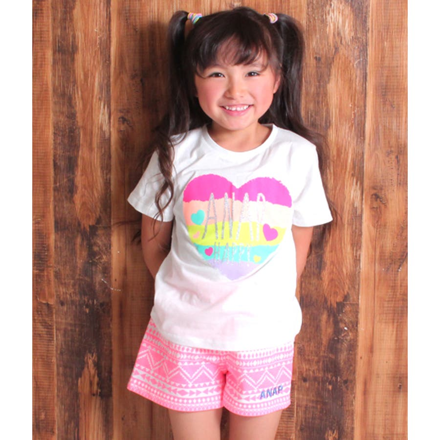676fdb6de811b カラフルハートプリントTシャツ 品番:QP000059425  ANAP KIDS ...