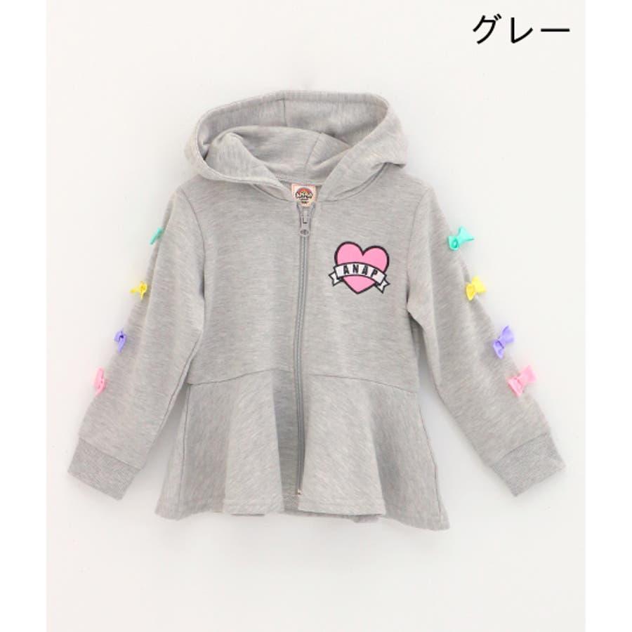 袖リボン付フレアパーカー / ANAP KIDS / 425-1676 2