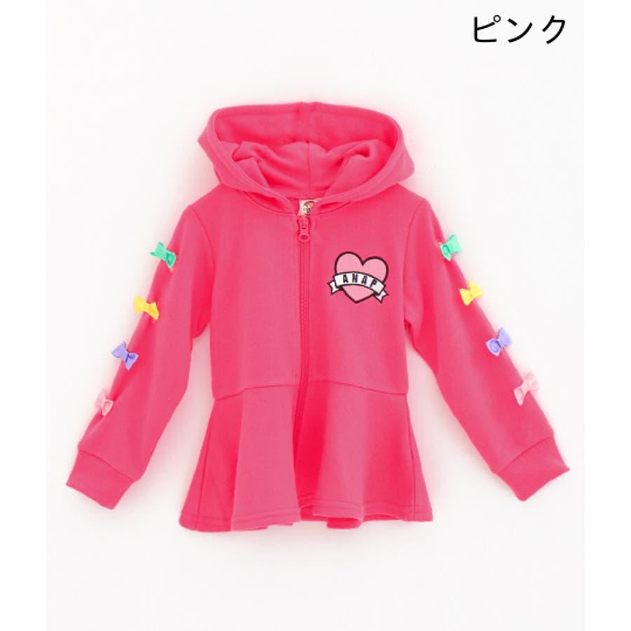 袖リボン付フレアパーカー / ANAP KIDS / 425-1676 3