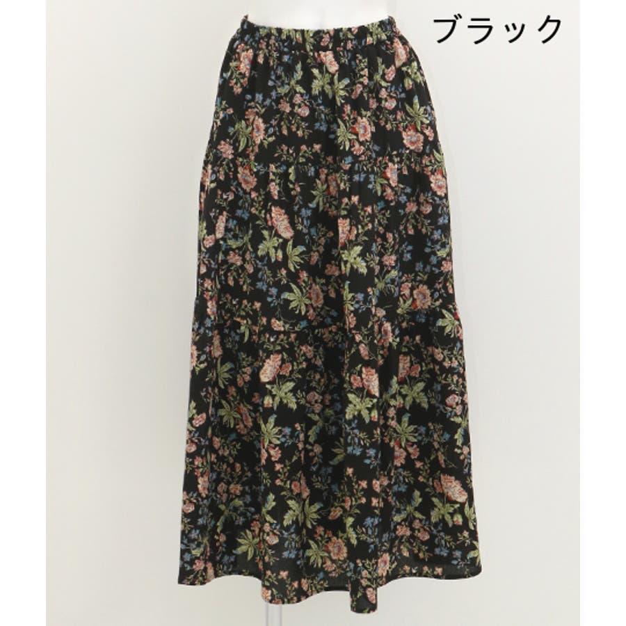 花柄ティアードスカート 3