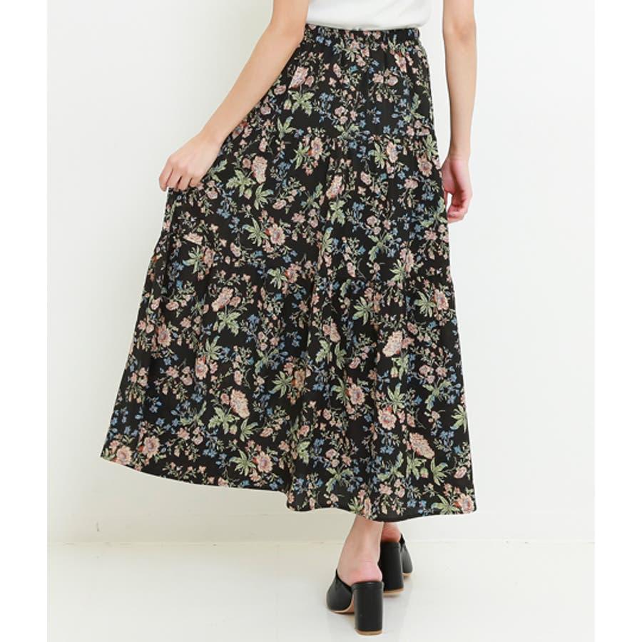 花柄ティアードスカート 9