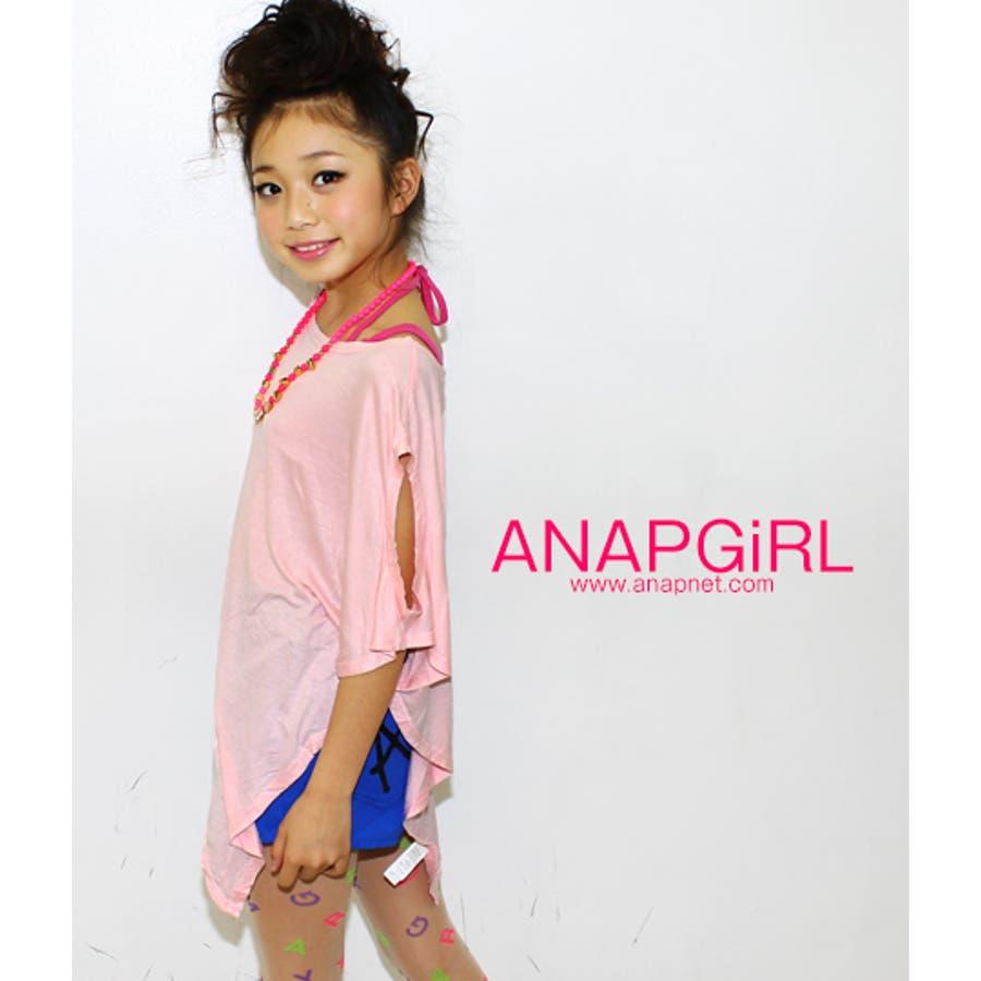 乙女にマストな ANAP 斜めカットシンプルTOP Tシャツ  ガール 軍需
