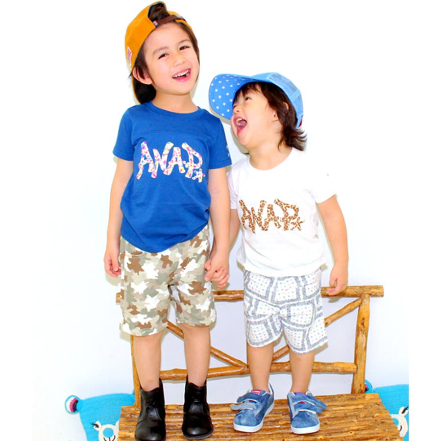 最高です! ANAPKIDS 2ロゴデザインTシャツ 割愛