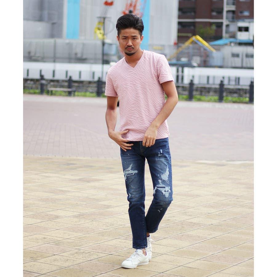 フクレJQDVネックTシャツ 8