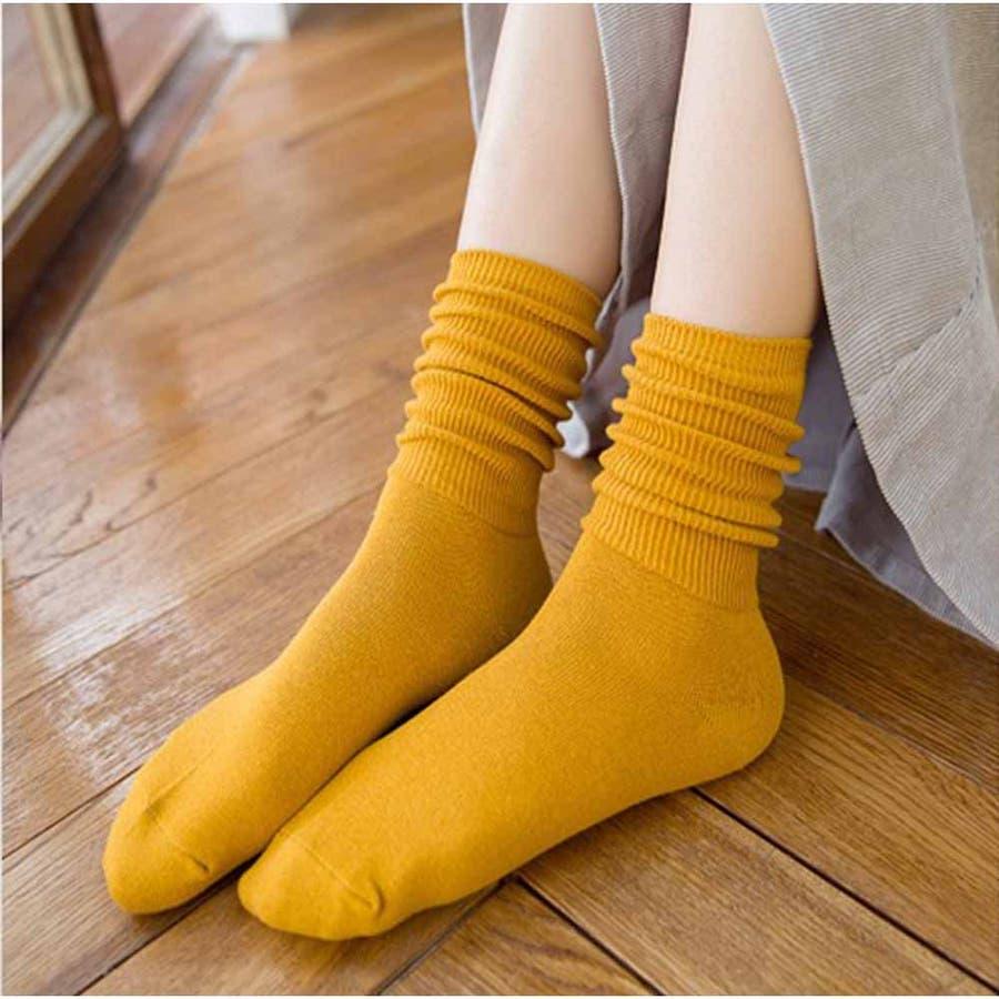 リブソックス レディース 靴下 無地 綿 ソックス 通学 冷え取り くしゅくしゅお洒落 かわいい スニーカーソックス アンクルソックス 冬 靴下 暖かい 大人 83
