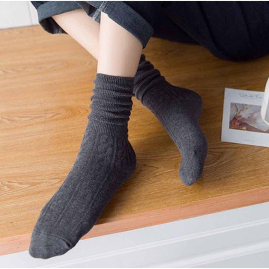 リブソックス レディース 靴下 無地 綿 ソックス 通学 冷え取り くしゅくしゅお洒落 かわいい スニーカーソックス アンクルソックス 冬 靴下 暖かい 大人 25