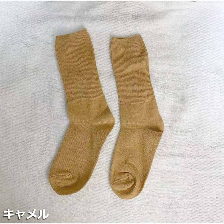 リブソックス レディース 靴下 無地 綿 ソックス 通学 冷え取り くしゅくしゅお洒落 かわいい スニーカーソックス アンクルソックス 冬 靴下 暖かい 大人 33