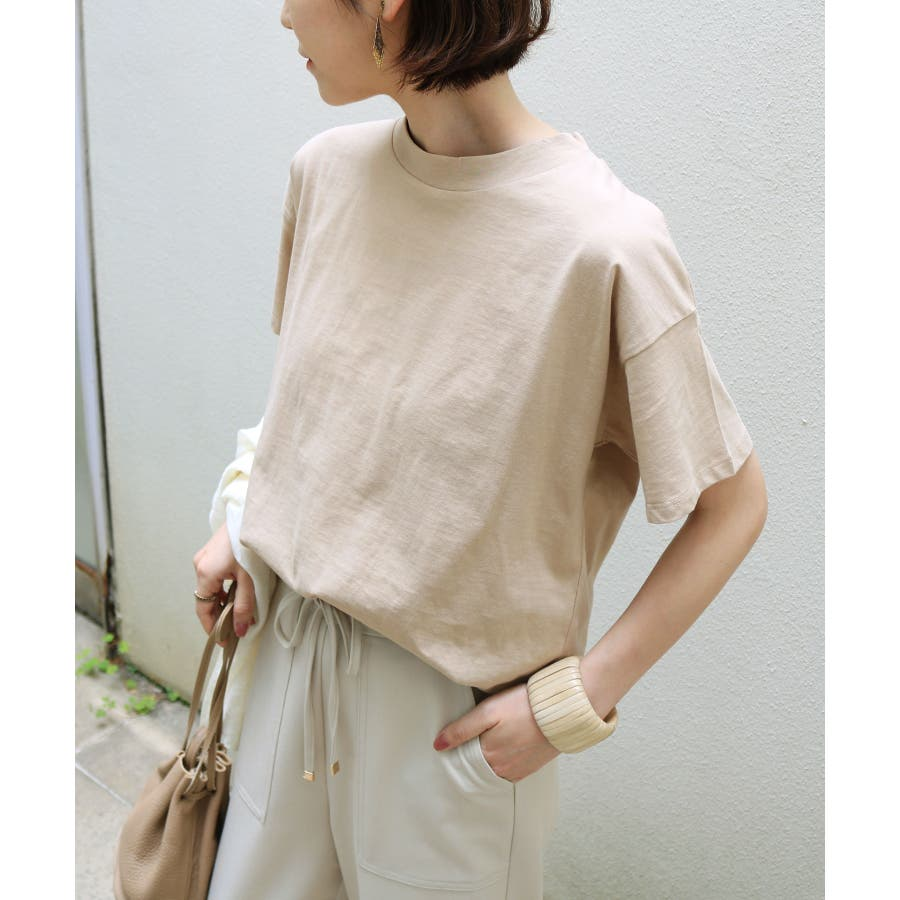 【B-1】コットン モックネック 半袖 Tシャツ レディース 日焼け対策 春 夏 41