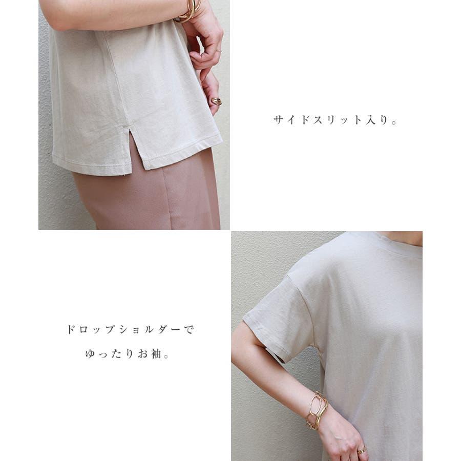 【B-1】コットン モックネック 半袖 Tシャツ レディース 日焼け対策 春 夏 5