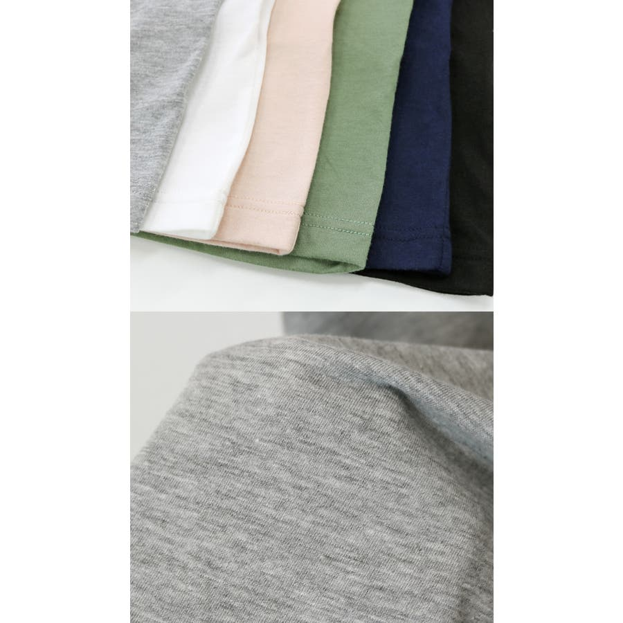 【G-13】Tシャツ レディース 半袖 ビッグT ゆったり ロング丈 チュニック Uネック トップス 無地 3