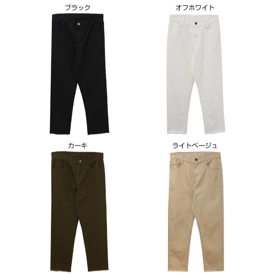 【L-5】テーパード ツイル チノ パンツ チノパン レディース コットン S/M/L/XLサイズ 春 夏 秋 冬 2