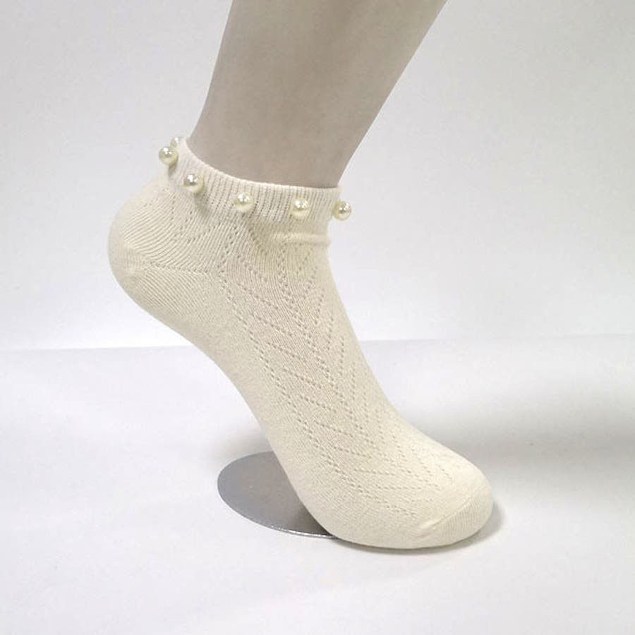 パール付き 靴下 レディース スニーカーソックス おしゃれ ミドル丈 可愛い シンプル 靴下コーデ ローソックス 韓国ファッション 18