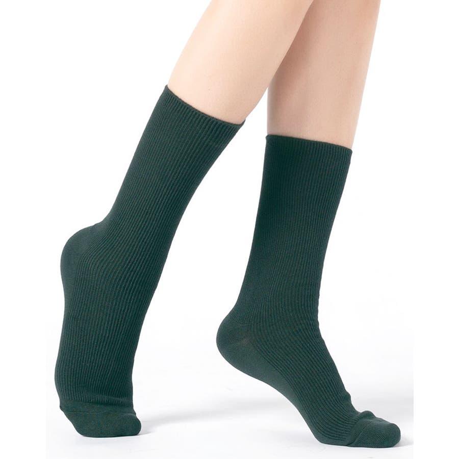 リブ 靴下 リブソックス レディース ミドル丈 無地 綿混 ソックス 通学 薄手 カラバリ 靴下 49