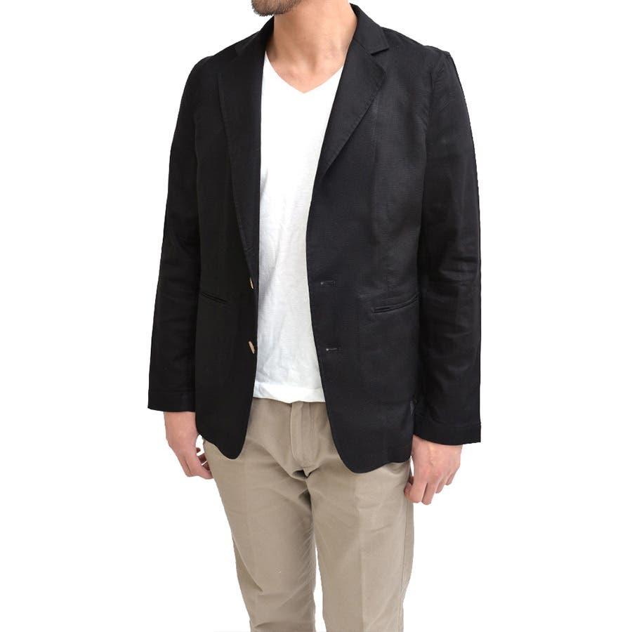 女子ウケ抜群 メンズファッション通販メンズ パナマ織りテーラードジャケット メンズ 長袖 コットン生地 綿100% 2B 2ボタン ブレザー スーツ 春夏ジャケットライトアウター 終盤
