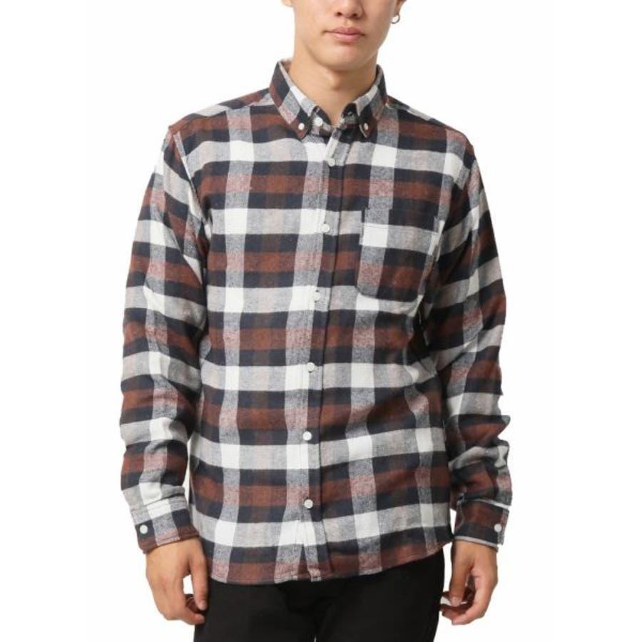 ネルシャツ メンズ ボタンダウン 40