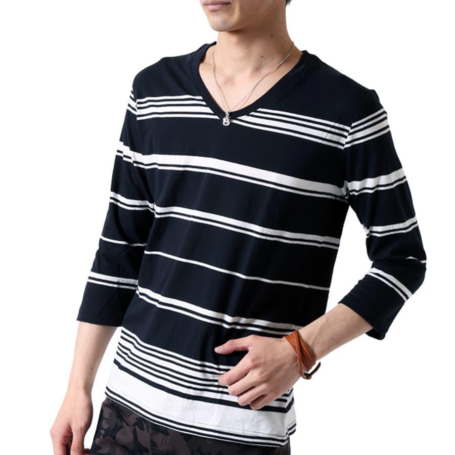 ボーダー Tシャツ メンズ 22