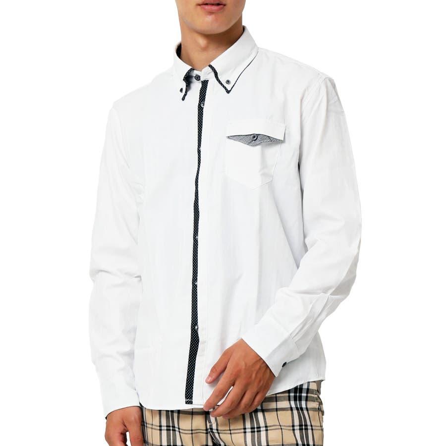 2枚衿 ドビー織り ボタンダウンシャツ 16