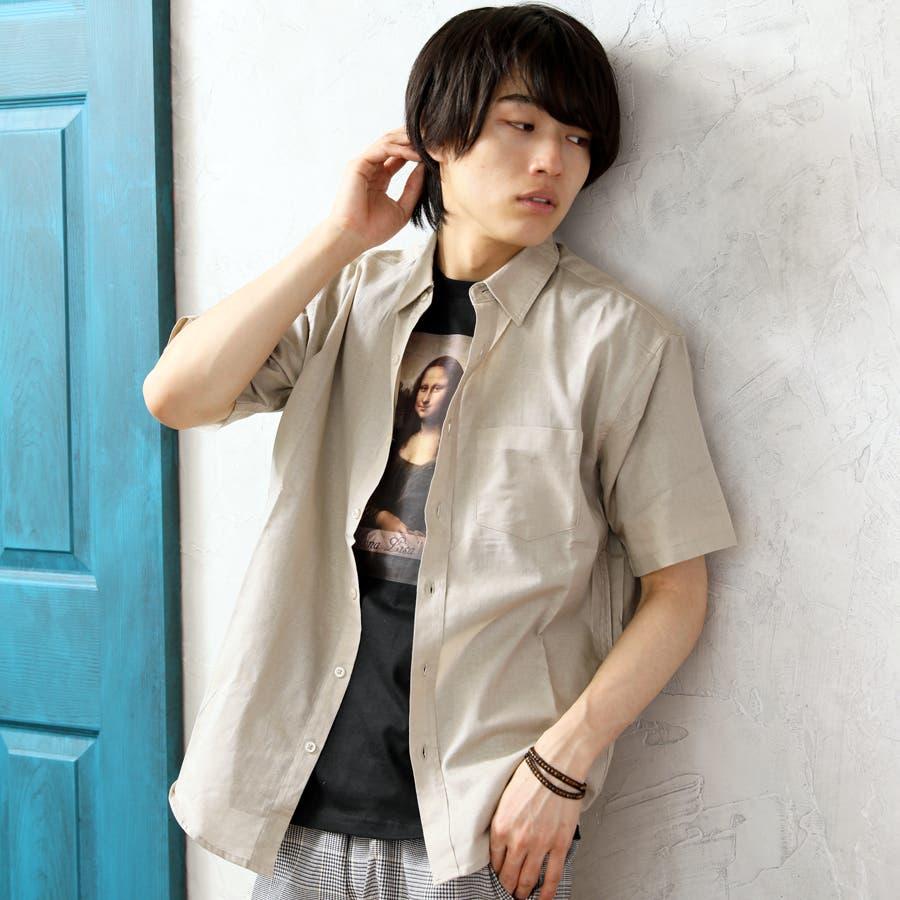 半袖シャツ メンズ リネンシャツ 41