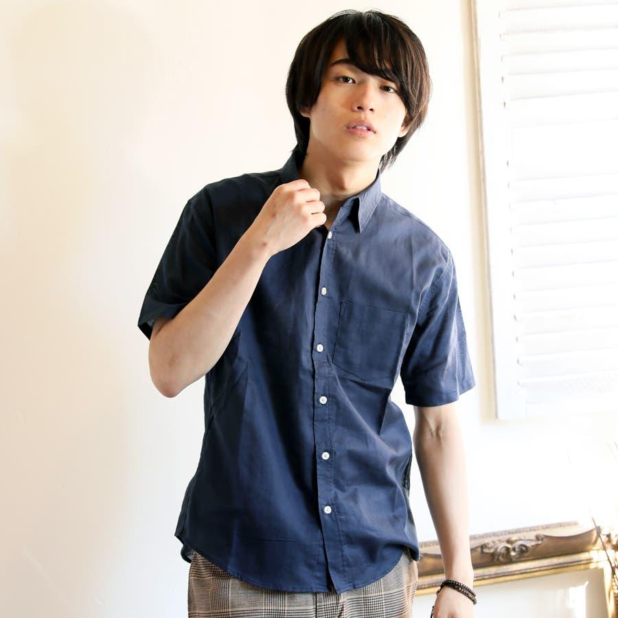 半袖シャツ メンズ リネンシャツ 64