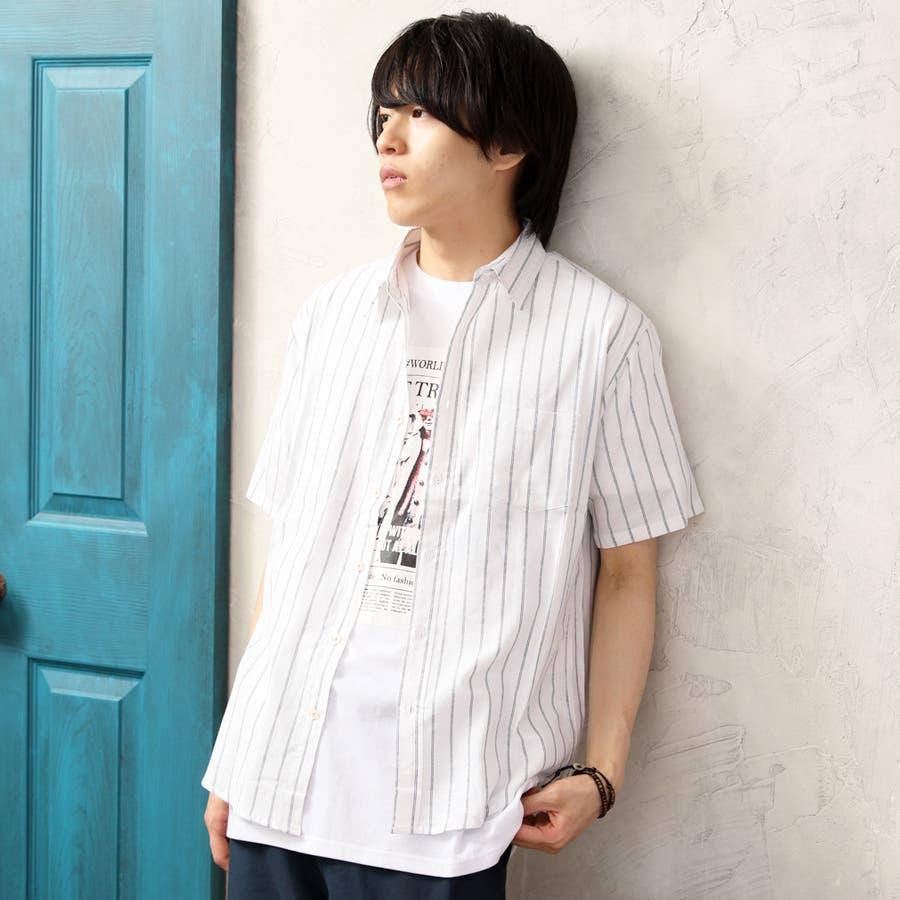 半袖シャツ メンズ リネンシャツ 20