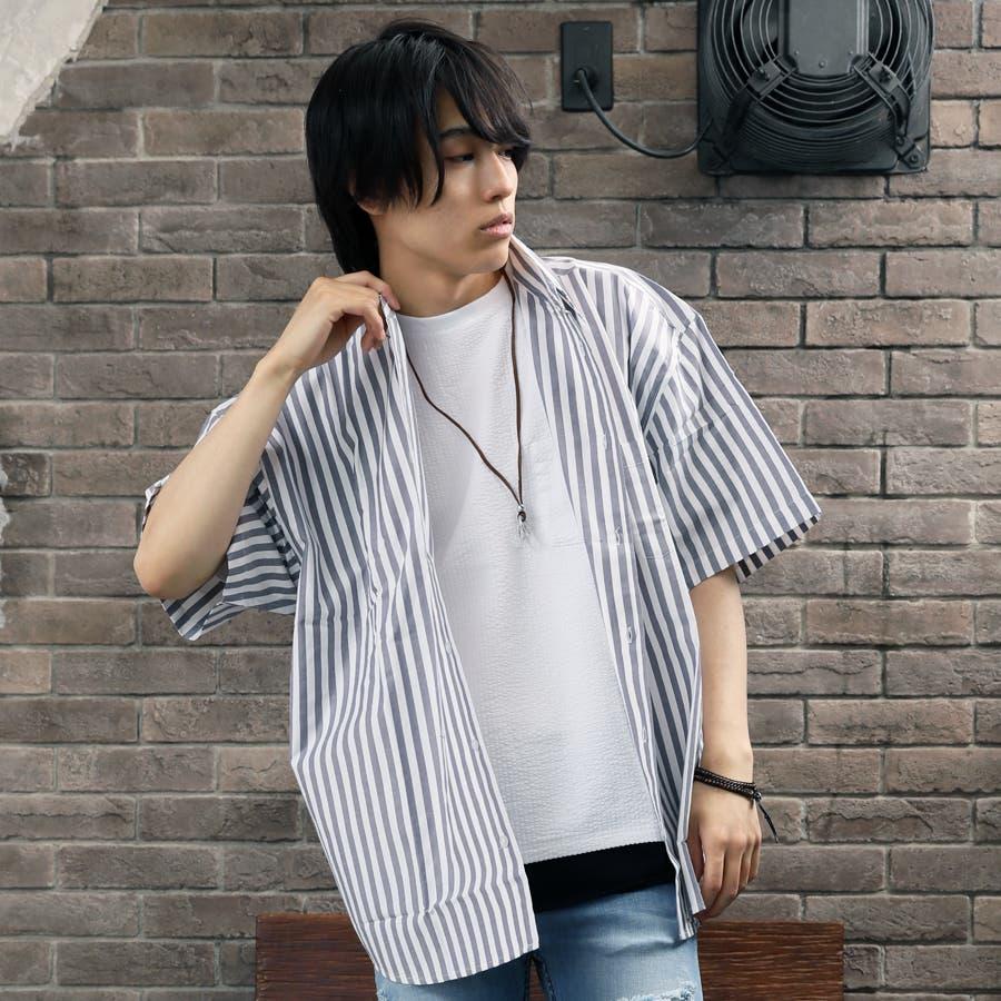 ビッグシャツ メンズ ストライプ 23