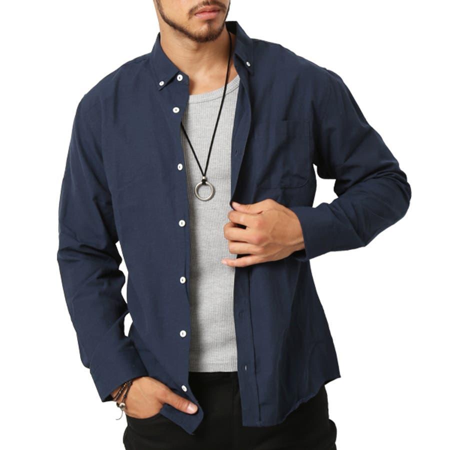 ボタンダウンシャツ シャツ メンズ 長袖 シャツ オックスフォードシャツ メンズファッション ボタンダウン カジュアルシャツ オックスフォードシャツ カジュアル アメカジ キレイ目 シャツ(メンズファッション通販)ARCADE(アーケード) 64