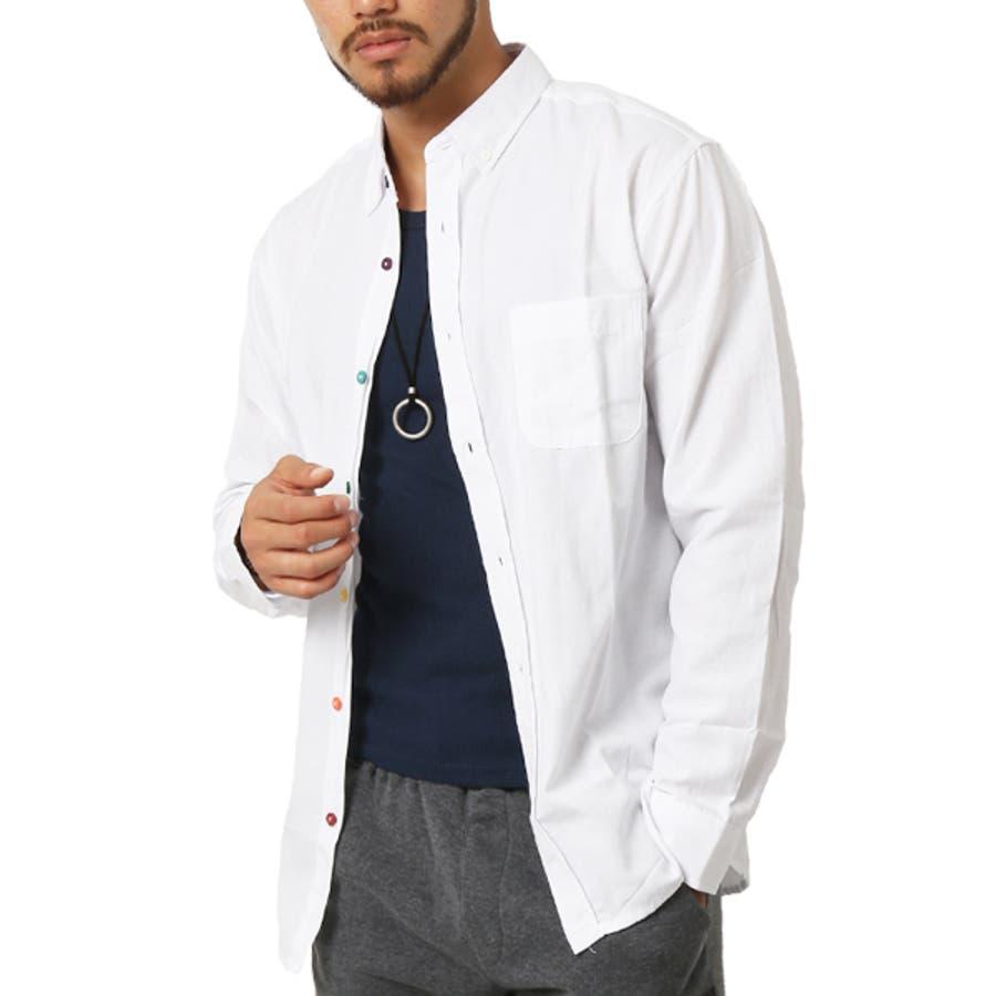 ボタンダウンシャツ シャツ メンズ 長袖 シャツ オックスフォードシャツ メンズファッション ボタンダウン カジュアルシャツ オックスフォードシャツ カジュアル アメカジ キレイ目 シャツ(メンズファッション通販)ARCADE(アーケード) 16
