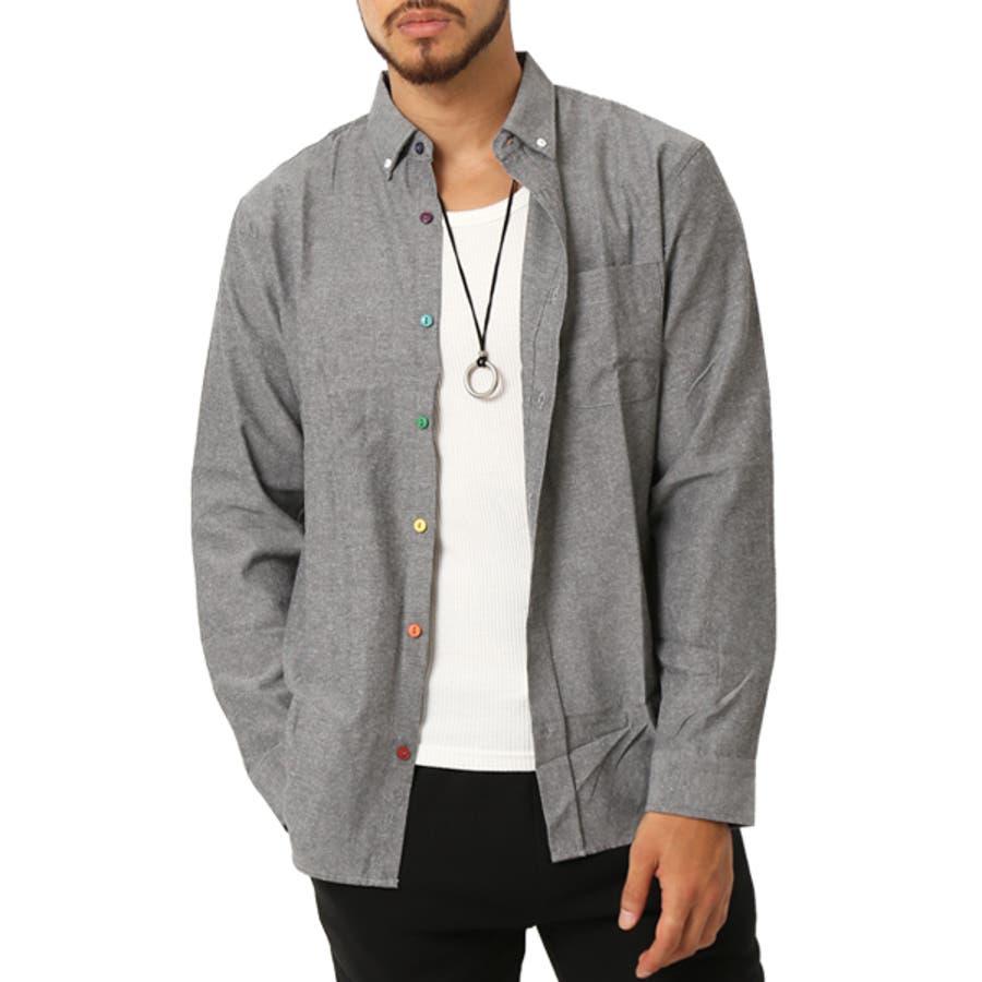 ボタンダウンシャツ シャツ メンズ 長袖 シャツ オックスフォードシャツ メンズファッション ボタンダウン カジュアルシャツ オックスフォードシャツ カジュアル アメカジ キレイ目 シャツ(メンズファッション通販)ARCADE(アーケード) 23