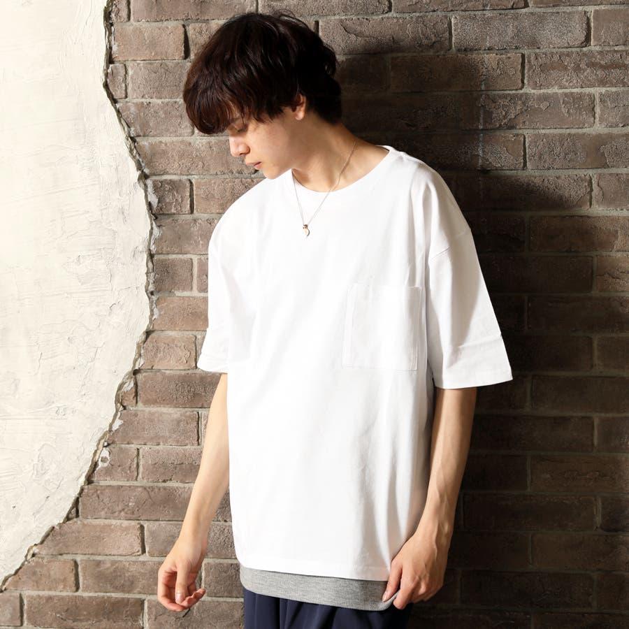 2枚セット アンサンブル ポケ付きビッグTシャツ×ロングタンクトップ 16