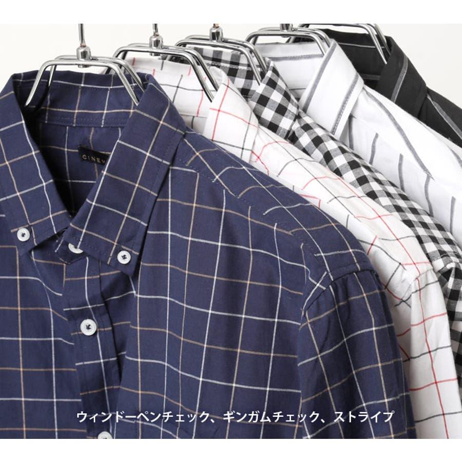 ボタンダウンシャツ メンズ 7分袖 3