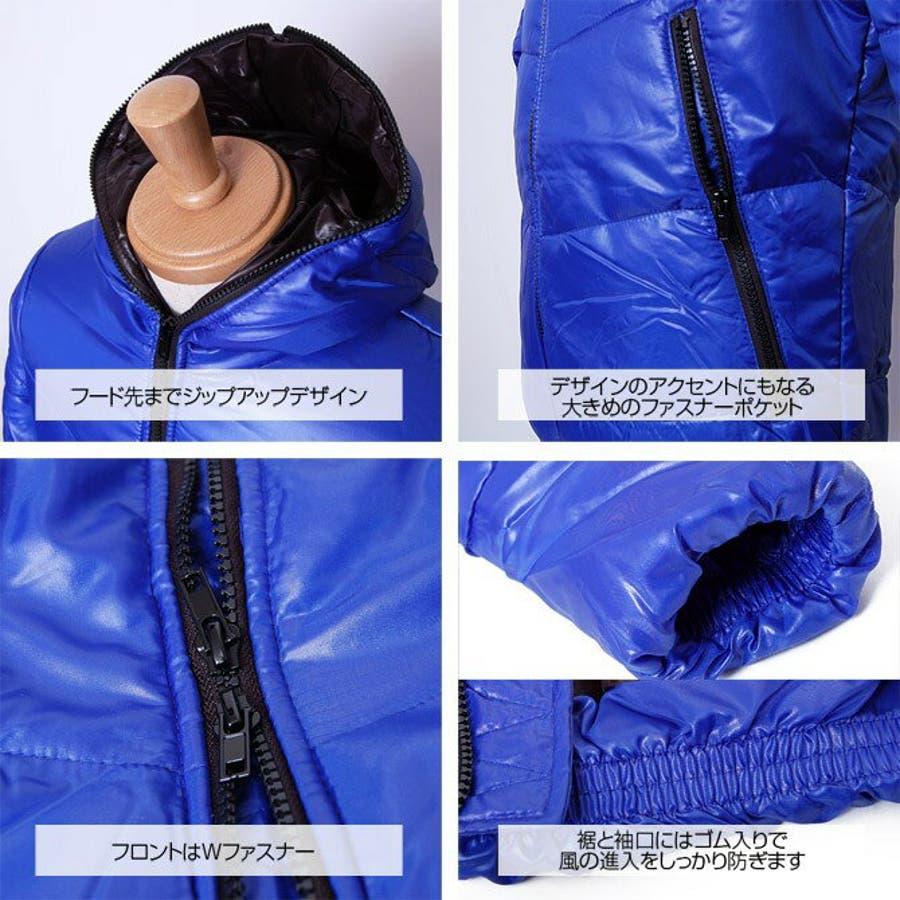 フード付きダウン 中綿ジャケット メンズ 3