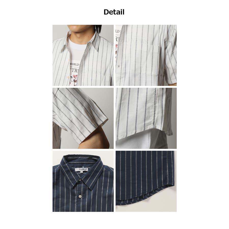 半袖シャツ メンズ リネンシャツ 5